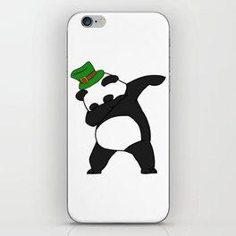 Dabbing St Patrick_s Day Panda Leprechaun iPhone Skin