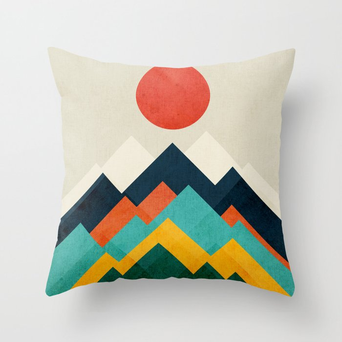 Stunning Multicolored Abstract Designed Outdoor Pillow Patio Madness