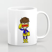 cyclops Mugs featuring CYCLOPS by Space Bat designs