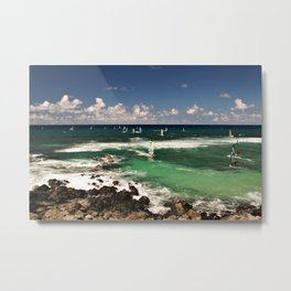 Windsurfing Metal Print