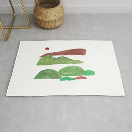 4    | Mountain Watercolour Painting  | 190402 Rug