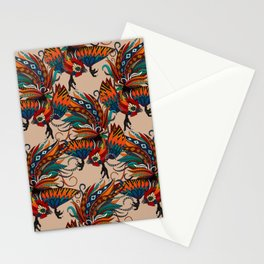 rooster ink beige Stationery Cards