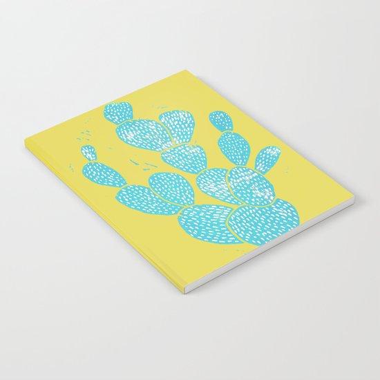 Linocut Cactus #1 Desert Blue Notebook