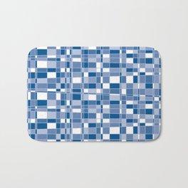 Mod Gingham - Blue Bath Mat