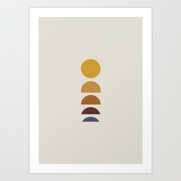 Minimal Sunrise / Sunset Art Print