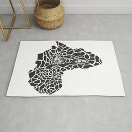 Map of Africa in giraffe camouflage Rug