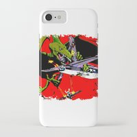kaiju iPhone & iPod Cases featuring Kaiju Attack by sasha alexandre keen