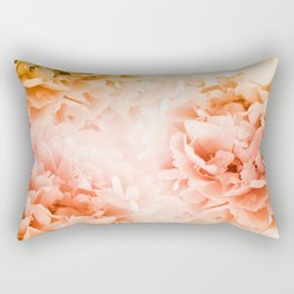 Yellow Orange Peonies Dream #1 #floral #decor #art #society6 Rectangular Pillow