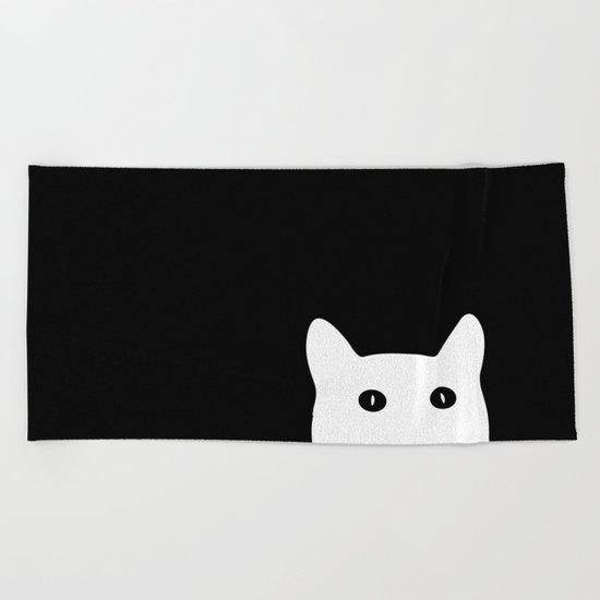 Sneaky Cat Beach Towel