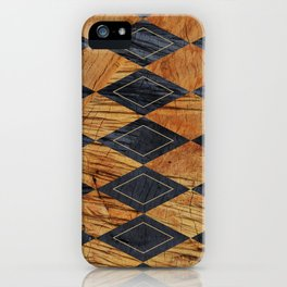 Wood cut abstraction iPhone Case