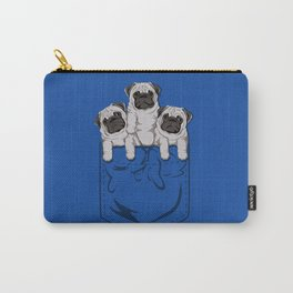 Pocket Pugs_Cobalt Carry-All Pouch