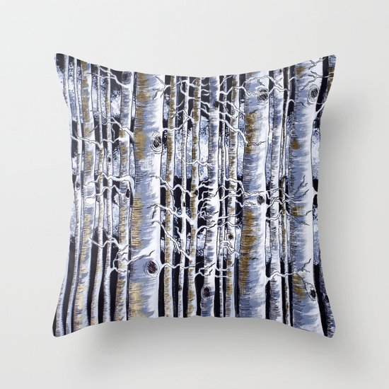 Birch Slap Throw Pillow