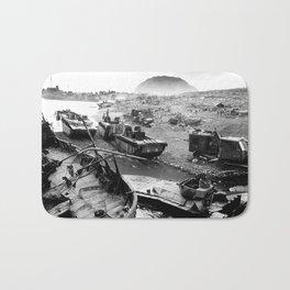 Iwo Jima Beach Painting Bath Mat