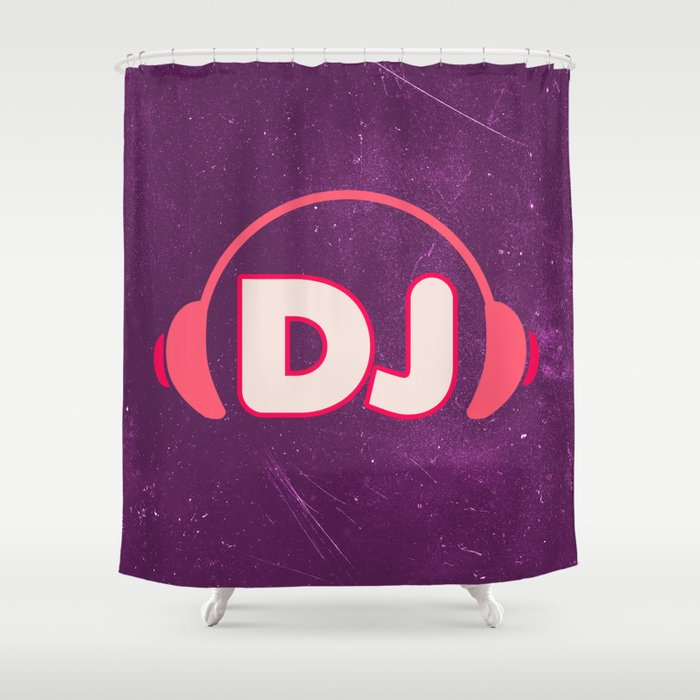 DJ Headphones Rave Quote Shower Curtain by thepatternpalace   Society6