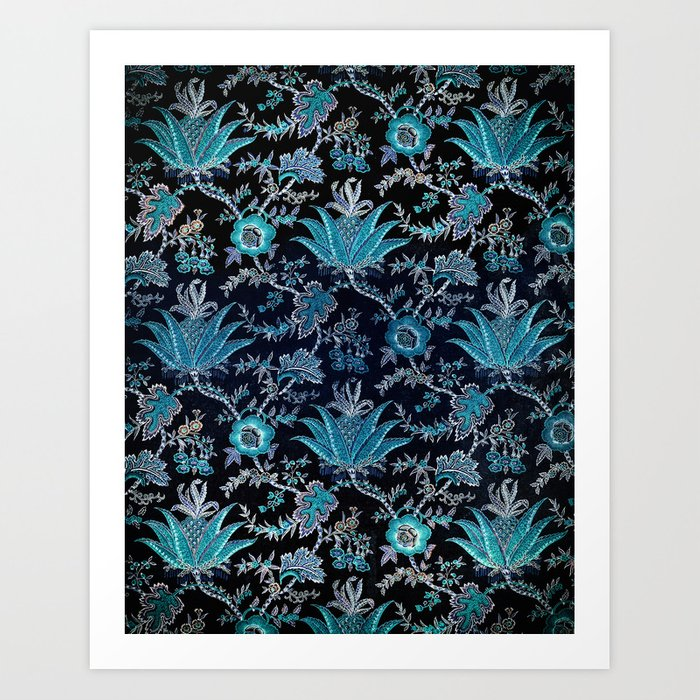 Floral Fabric Vintage Gift Pattern #8 Kunstdrucke