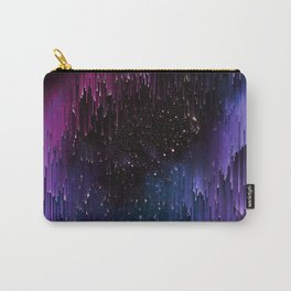 Ultra Violet Glitch Galaxy Carry-All Pouch