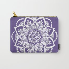 Ultraviolet Flower Mandala Carry-All Pouch
