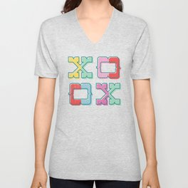 Color-Blocked XOXO Unisex V-Neck