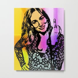 Nicole da Silva as Charlie Knight Metal Print