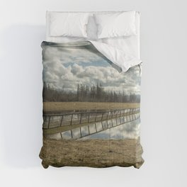 Bridge Over Sky Comforters