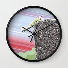 """Don't Go There"" Cute Insect Art by Murray Bolesta! Wall Clock"