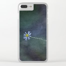 Daisy with Dark Expressions Clear iPhone Case