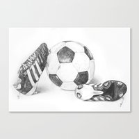 football Canvas Prints featuring Football by Dianadia