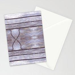 Cracked Wood Photo Stationery Cards