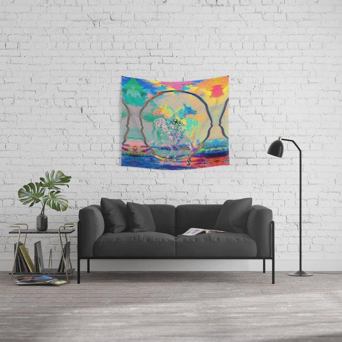 Glitch Horse II Wall Tapestry