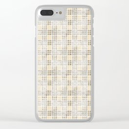 Classical beige cell. Clear iPhone Case