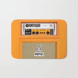 Bright Orange color amplifier amp Bath Mat