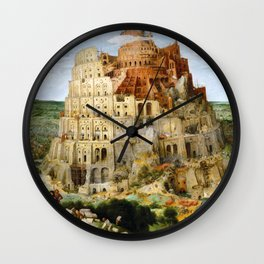 The Tower Of Babel Wall Clock