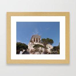 Roman Temple Near Marseille Framed Art Print