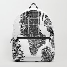 New York city map black and white Backpack