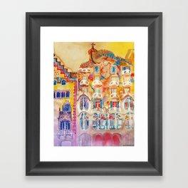 Casa Batllo Framed Art Print