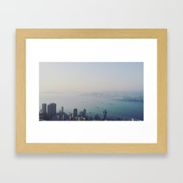 Hong Kong From Above Framed Art Print