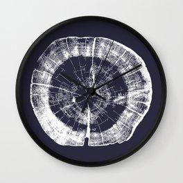 Tree Rings - Evening Blue Wall Clock