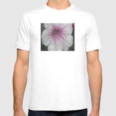 Flower White Mens Fitted Tee MEDIUM