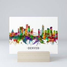 Denver Colorado Skyline Mini Art Print