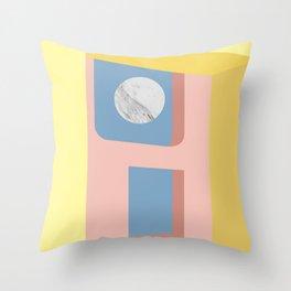 Marble Moon Throw Pillow