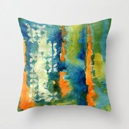 Aquamarine Dreams Throw Pillow