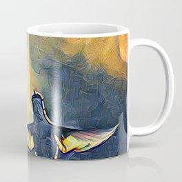 Golden Blue Hummingbird by CheyAnne Sexton Coffee Mug