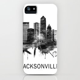 Jacksonville Florida Skyline BW iPhone Case