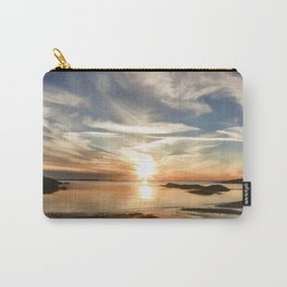 Plum Cove Beach Sunset Painting Carry-All Pouch