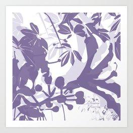 BC lila silhouette Art Print