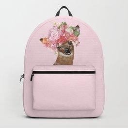 Deer with Flower Crown Backpack