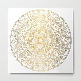 Gold Bali Mandala Metal Print