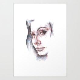Sophia, the beauty Art Print