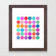 colorplay 8 Framed Art Print