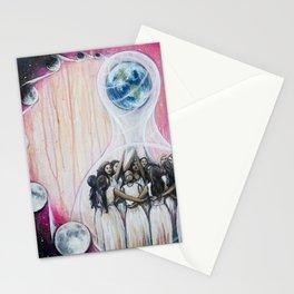 Sister Circle // Women Feminism Feminist Sisterhood Goddess Earth Moon Unity Peace Love Power Energy Stationery Cards